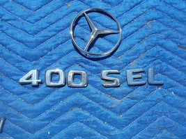 1993 400 SEL TRUNK TRIM ORNAMENT EMBLEM OEM USED ORIG MERCEDES BENZ image 1