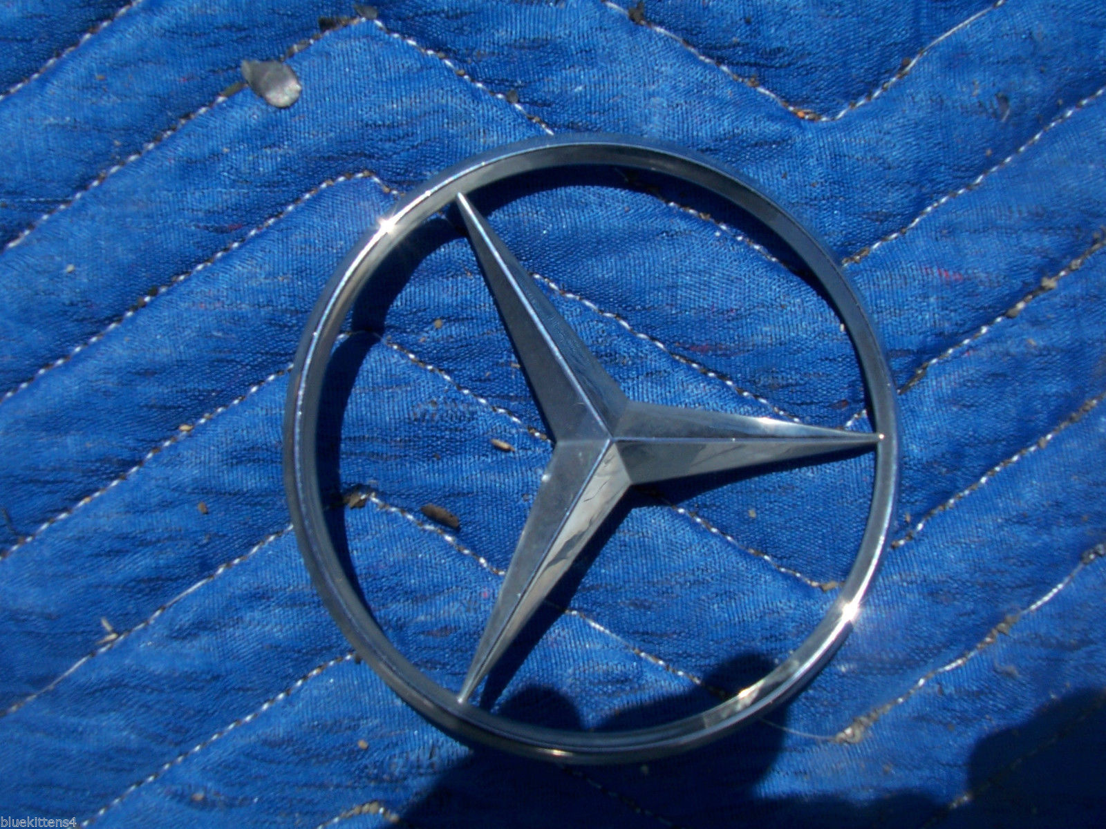 1993 400 SEL TRUNK TRIM ORNAMENT EMBLEM OEM USED ORIG MERCEDES BENZ image 2