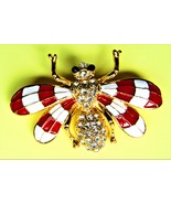 Handsome Enameled Bee Pin - $10.50