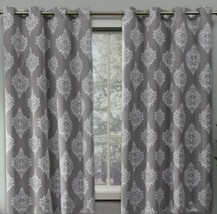 """Medallion Blackout Window Curtains - Silver Grey - Size: 84""""x52"""" - Set of 2 - $32.66"""