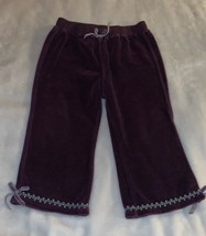 Baby Girl's Size 18 Months Dark Purple Velour Lounge Pants EUC - $9.00
