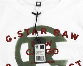 NEW NWT G-STAR RAW MEN'S PREMIUM ORDER LOGO COTTON GRAPHIC T-SHIRT TEE MILK image 5
