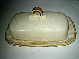 Mikasa Garden Club EC 400/eb801 Covered Butter Dish w Under-plate Excellent - $19.99