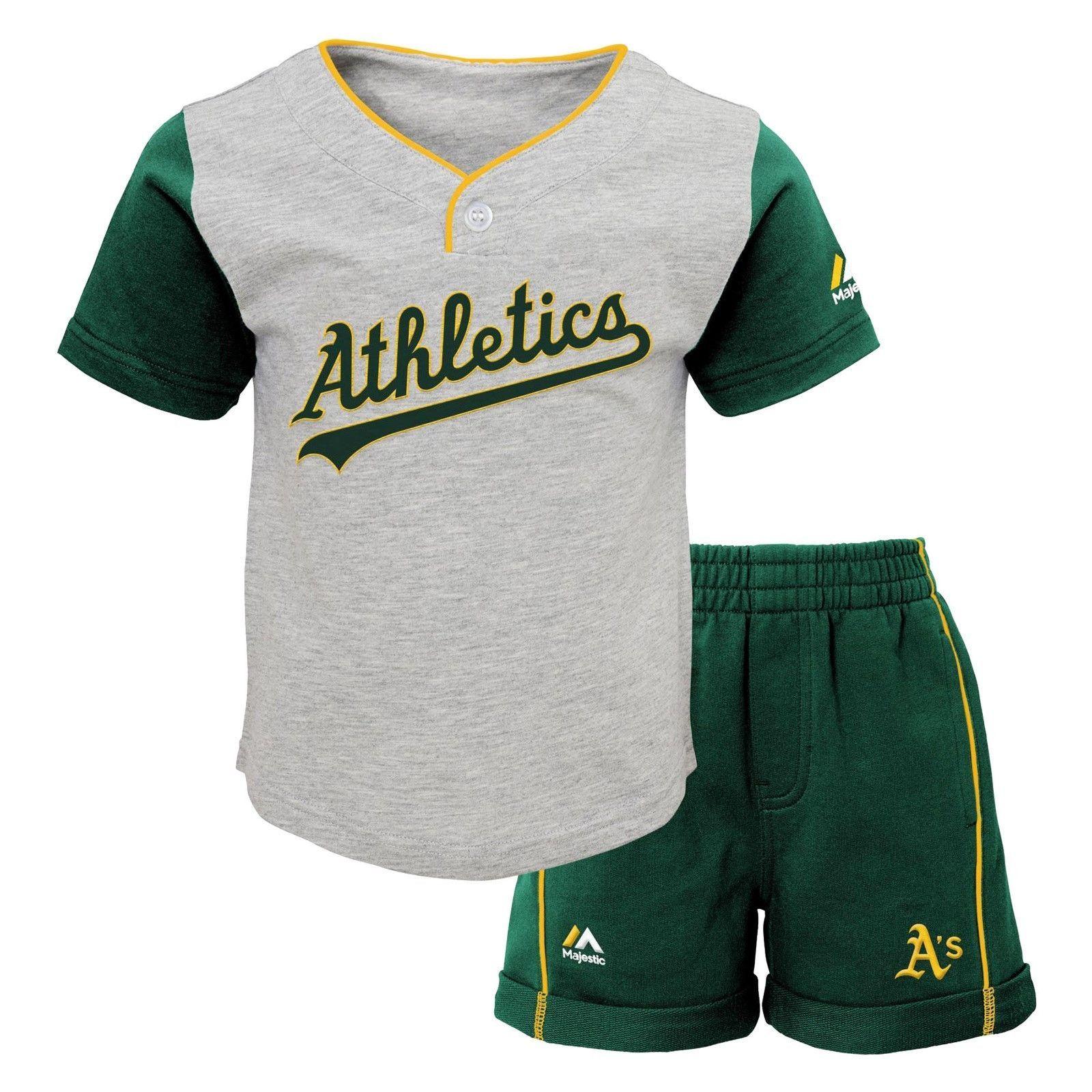 Oakland Athletics A's Infant Toddler Short Set MLB Batting Practice Jersey Short