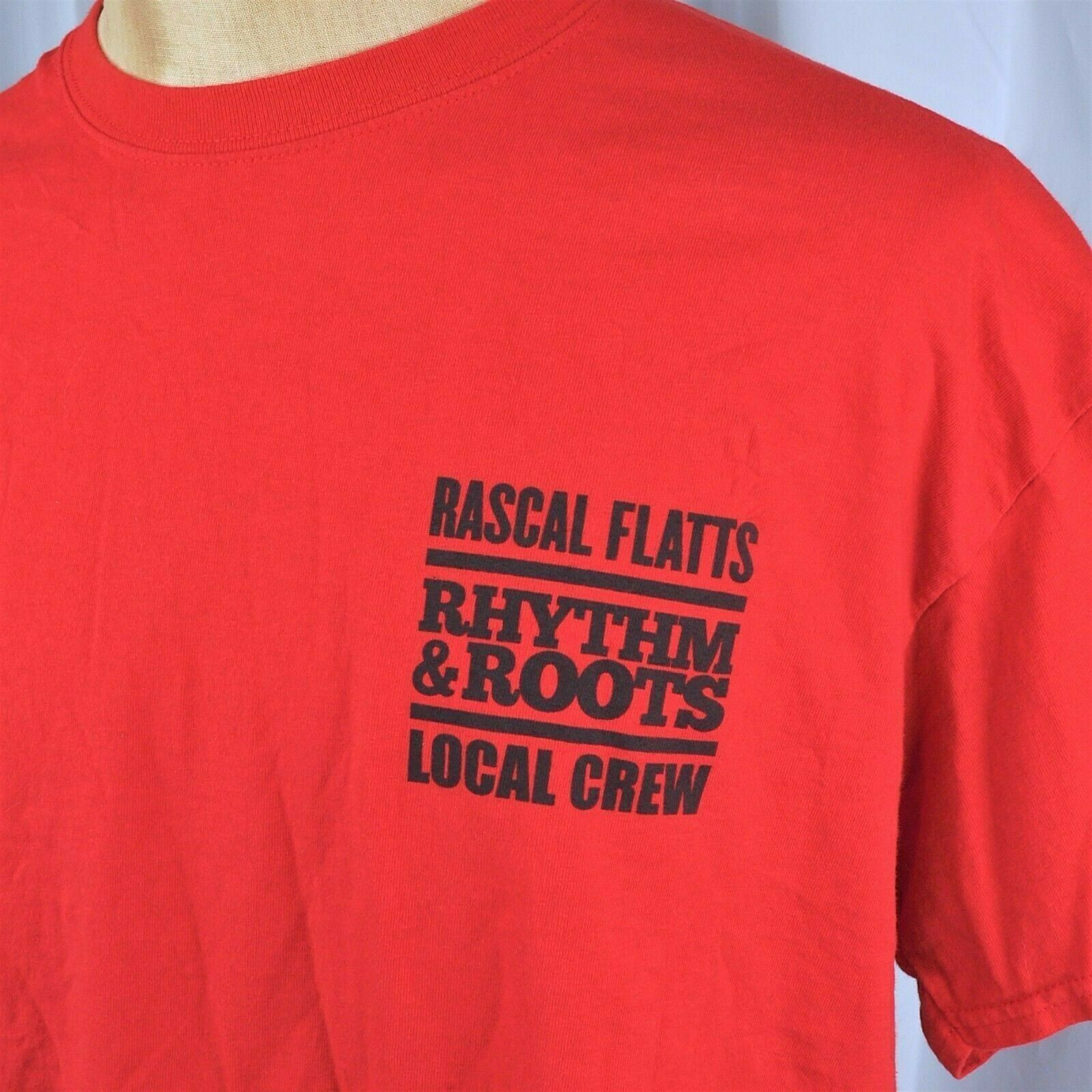 Primary image for Rascal Flatts Local Crew Concert T-Shirt XL Stage Hand Rhythm Roots Definition