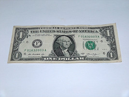 2013 $1 Dollar Bill US Bank Note Year Date Teen Birthday 0163 2003 Fancy... - $13.78