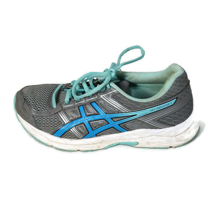 Asics Gel-Contend 4 Ortholite Sneakers Shoes Mesh Women Size 7 Gray Blue T767Q image 1