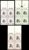 832-34, Mint XF NH High Value Plate Blocks Cat $472.00 - Stuart Katz - $249.00