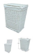 Laundry Hamper Basket Lid Lining Wicker Washing Bin Dirty Clothes Large 85L - $44.31