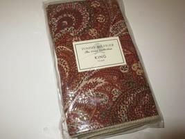 2 Tommy Hilfiger JAIPUR Red Rust Paisley King Shams NIP - $39.23