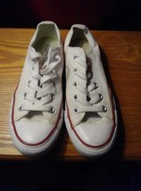 Converse All Star Chuck Taylor M7652 Optic White Canvas Shoes Youth - $15.00