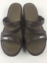 Crocs Women's Sandals Size 8 Brown Slip On  EUC! Must See! - $19.79