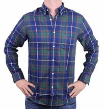 NEW MEN'S DOCKERS CLASSIC FIT CASUAL WOVEN FLANNEL SHIRT BLUE 8V043LK SIZE XL