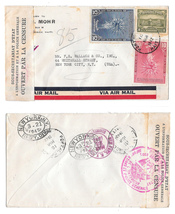 Haiti Censored Cover to US 1942 Receiving Marks Transit NY Registered Ba... - $16.99