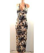 Cristina  Love Full-Length Halter Maxi Dress. Beige Brown - $28.99