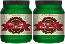 Piping Rock Psyllium Husk Seed Powder 2 Bottles x 24 oz (681 g) Vegetari... - $29.95+