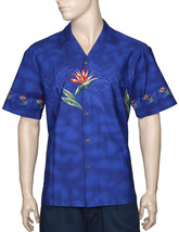 "Bird of Paradise by ""KY of Hawaii"" SS Hawaiian Border Shirt/NWT Made in USA - $54.40+"