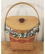 Vtg 1998 Longaberger Xmas Collection Glad Tidings Holly Berry Liner Bask... - $24.95