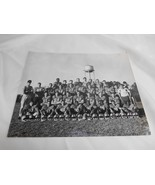 Old Vtg 1958 FOOTBALL TEAM REAL PHOTOGRAPH Black & White Water Tower Bac... - $19.79