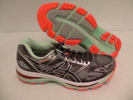 Asics women's gel nimbus 19 (2A) running shoes carbon white flash coral ... - $98.95