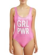 No Boundaries Women's One Piece Swimsuit X-Large (15-17) Pink Metallic G... - $17.81