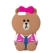 LINE FRIENDS Character iPhone 7 Plus Silicone Case MEGA CHOCO Official G... - $22.76