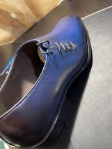 Handmade Men's Blue Leather Dress/Formal Shoes image 3