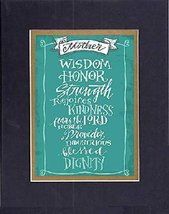GoodOldSaying - Poem for Mother - Wisdom, Honor, Strength . . . . 8x10 Biblical  - $11.14