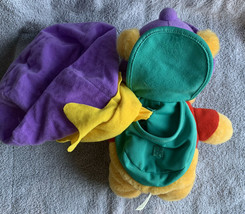 Vintage Mattel 1997 Winnie the Pooh Plush w/Attached Honey Pot Pouch Bac... - $16.82