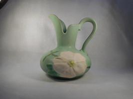 Vintage Weller Green Handled Ewer Pitcher - $49.45