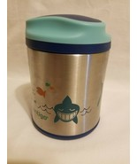 Contigo Kids SS 10 Oz Food Jar Sharks EUC Insulated - $9.89