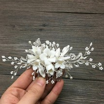 Wedding Accessory Stunning Floral Head Piece Bridal Silver Women Hair Je... - $14.99