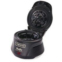 Presto 03500 Belgian Bowl Waffle Maker, Black - $42.40 CAD