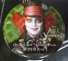 """Vintage 3"""" Disney's Alice In Wonderland Movie Pinback Button DA21490 Collectible - $15.51"""