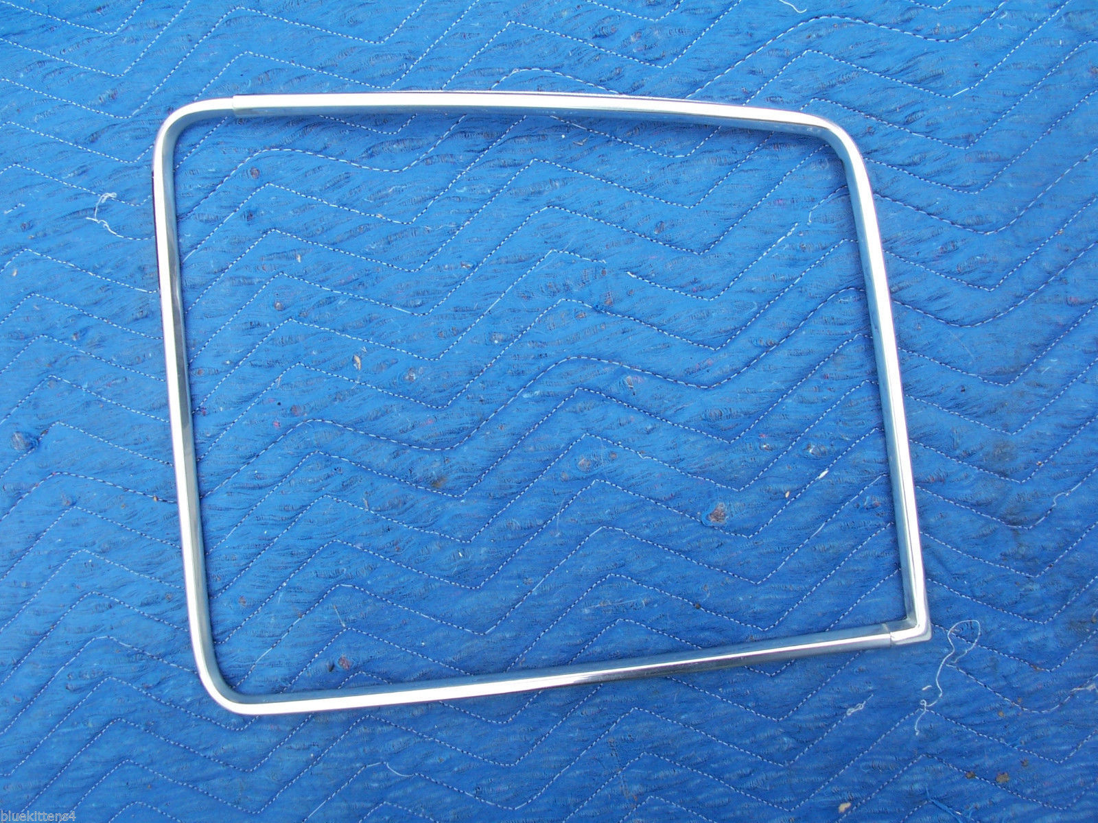 1977 COUPE DEVILLE RIGHT REAR OPERA WINDOW  EDGE TRIM OEM USED CADILLAC PART
