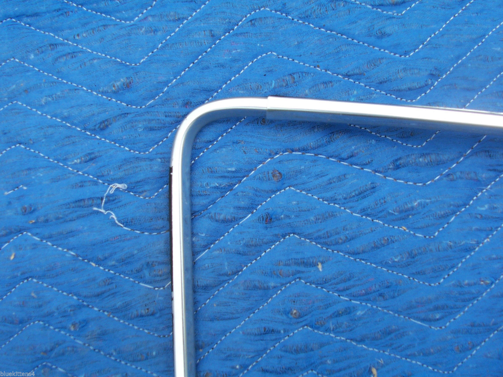 1977 COUPE DEVILLE RIGHT REAR OPERA WINDOW  EDGE TRIM OEM USED CADILLAC PART image 2