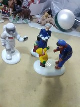 3 Dept 56 Accessories for Village -Astronaut, Lady and Postman - $5.51