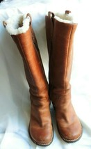 UGG Women's Leather Zipped Tall Brown Boots Size 7 - $75.99
