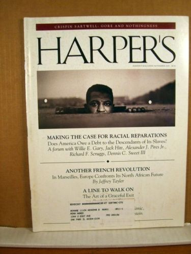 Primary image for Harper's Magazine, Nov 2000 Case for Racial reparations