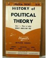 History of Political Theory, Emile Benoit-Smullyan 1967 - $3.99