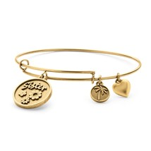PalmBeach Jewelry Sister Charm Bangle Bracelet in Antique Gold Tone - $17.59