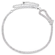 Women Ladies Girl Rhinestone Belt Diamante Chain Waist Bridal Wedding Si... - $14.70