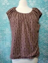 Evan Picone Womens Plus Size 1X scoop Neck Stretch plum Purple Top Sleev... - $19.70