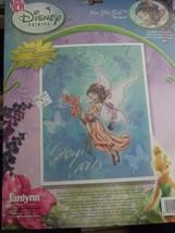 "NIP Disney Faries Fira Glow Girls Counted Crossd Stitch  8"" x 11"" USA - $16.95"