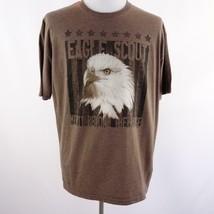 Boy Scouts of America Eagle Scout Brown Graphic T Shirt Mens Sz 2XL - $19.25