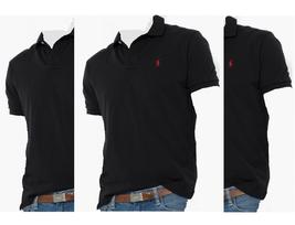 $90 Polo Ralph Lauren Men's Classic-Fit Short Sleeve Mesh Polo, Black, Size L. - $59.39