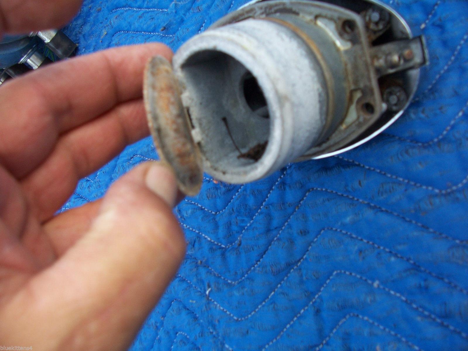 1982 JAGUAR XJ6  LEFT GAS CAP FUEL DOOR OEM USED ORIG 1980 1981 1983