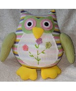 GANZ 96M7432 Multi Colored Polyester 10 Inch Tall Striped Owl - $19.00