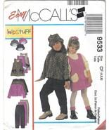 McCall's 9533 Kidstuff Jumper Jacket Hat Girls szs 4 to 6 Uncut - $6.99