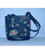 Liz Claiborne Beaded Purse Black with Dogs Small Tote - $9.99